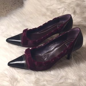 Coach pointed toe heels
